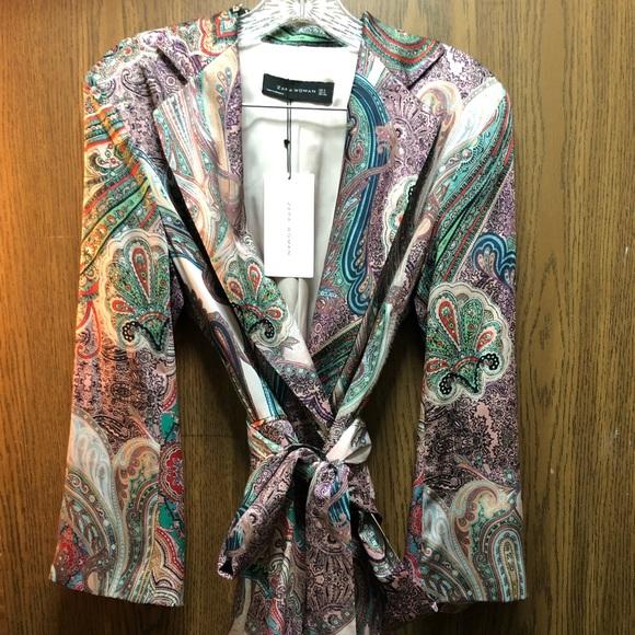 f4d7b100a3116 Zara Dresses | Paisley Blazer Dress Size S | Poshmark